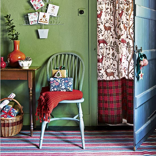 How To Make A Door Curtain Panel With Contrast Band