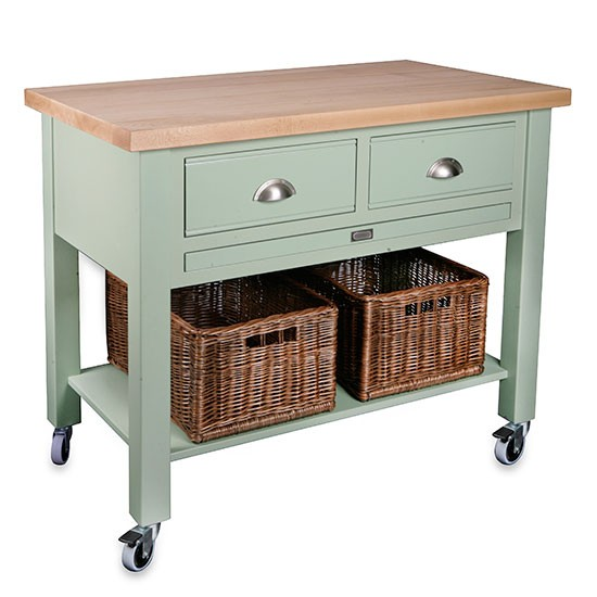 baydon 2 drawer kitchen trolley from store butcher s