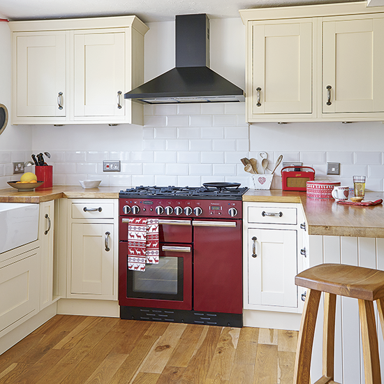 Shaker-style Kitchen With Red Range Cooker