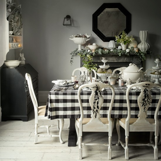 Nordic charm christmas decorating ideas for Dining room equipment