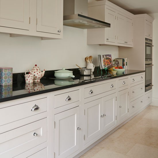 Cream Kitchen With Shaker Style Cabinets