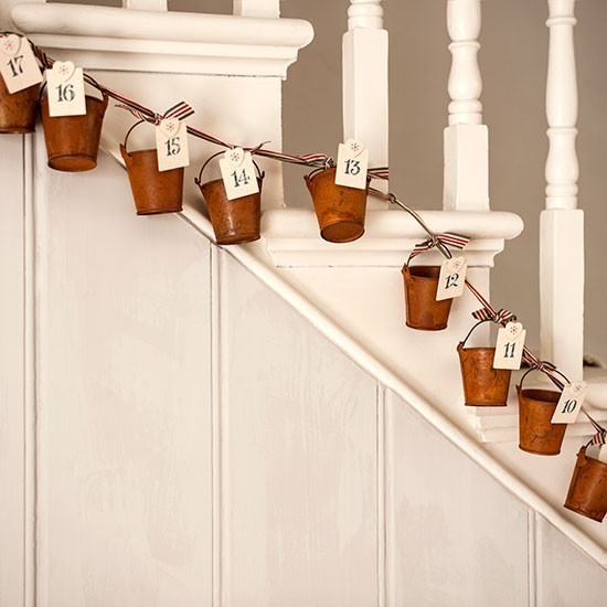 New Home Design Ideas Theme Inspiration 10 Hallway: Neutral Hallway With Cute Bucket Advent Calendar