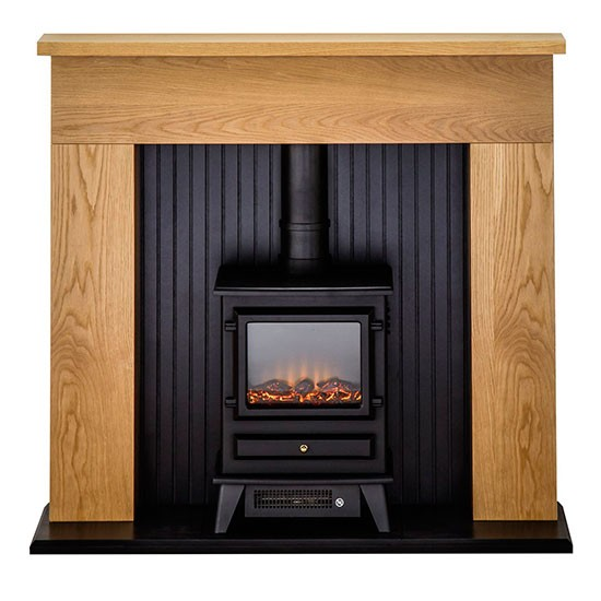 innsbruck electric fire suite from homebase traditional. Black Bedroom Furniture Sets. Home Design Ideas