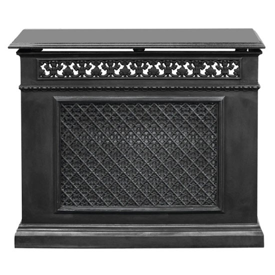 single panel cast iron radiator cover from period house store radiator covers. Black Bedroom Furniture Sets. Home Design Ideas
