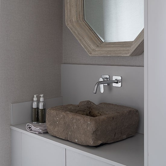 Barn House Sink : cloakroom with stone trough sink Tour this edgy Grade II-listed barn ...