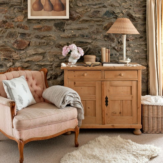 Cosy Bedroom With Exposed Stone Wall Step Inside This