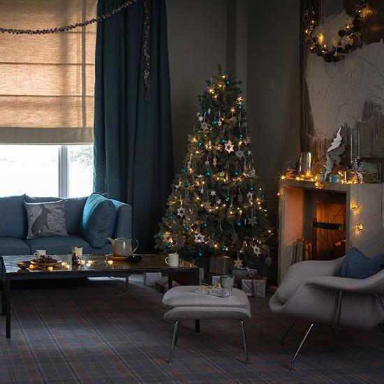 Winter Warmth Contemporary Christmas Living Room Ideas