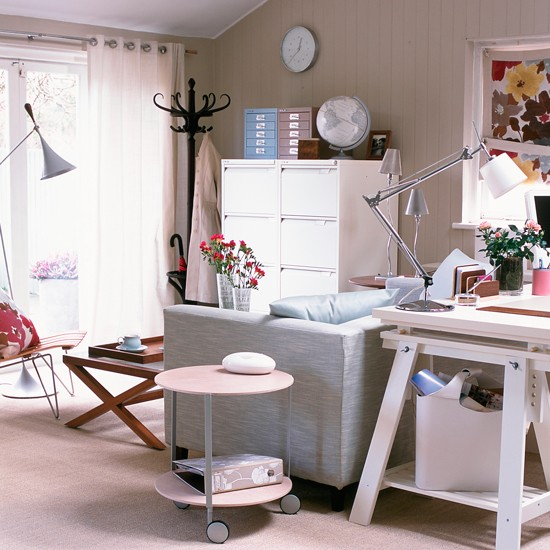 Small home office design ideas for Garden office interior design ideas