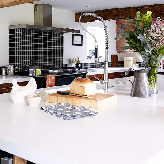 Cool White Kitchen Worktops