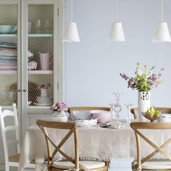 French country dining room dining room ideas for for Pastel dining room ideas