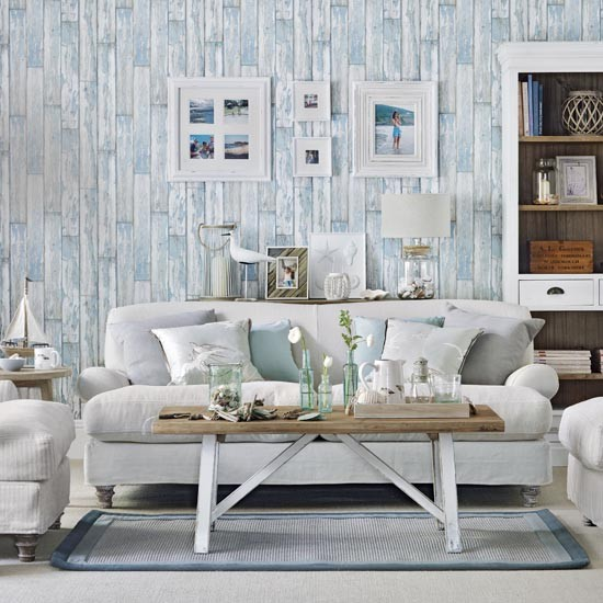 Coastal Country Living Room Simple Designs