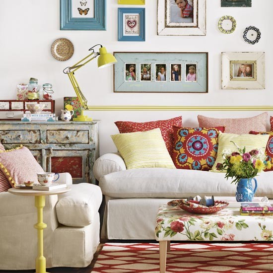 Colourful Country Living Room Simple Designs For Easy Living Room