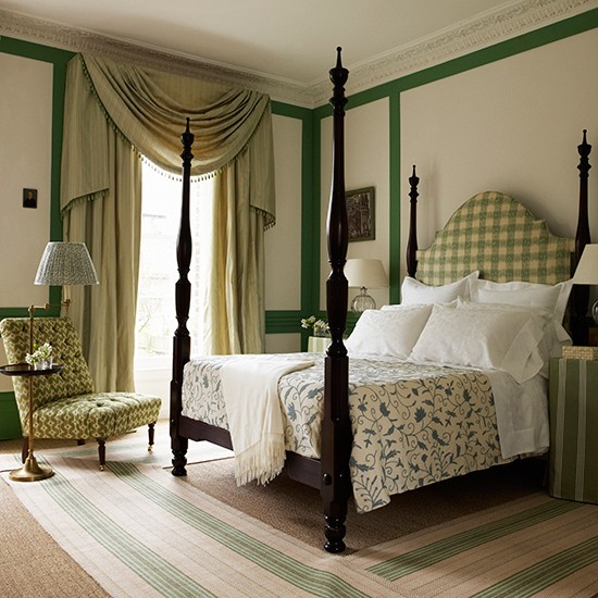 Add a swag discover the interior design potential of for Bedroom ideas traditional