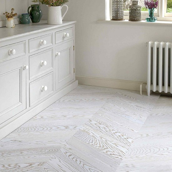 Whitewashed Plank Floors In White Kitchen: Natural Wood Floor Company Whitewashed Wood Parquet Flooring