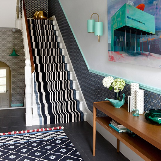 Monochrome Motifs Hallway Colour Schemes: hallway colour scheme ideas