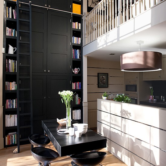 Elegant kitchen with double height wall units smart for Double kitchen wall unit