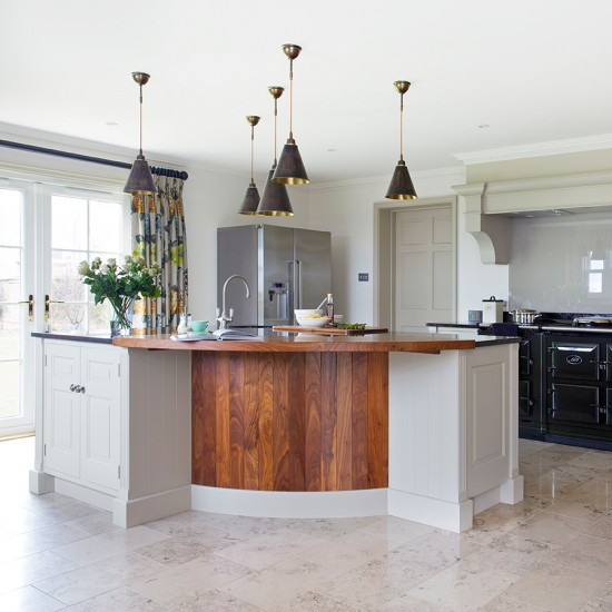 Use Angles To Break Up The Space Kitchen Island Ideas