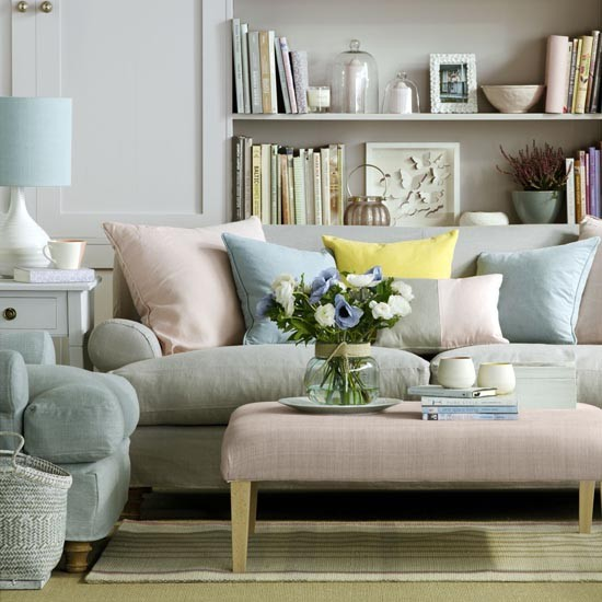 pretty pastel living room mix and match living room schemes photo