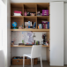 Cupboard home office with cubbyhole storage