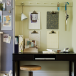 Alcove home office with peg rail