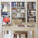 Traditional home office with built-in shelves
