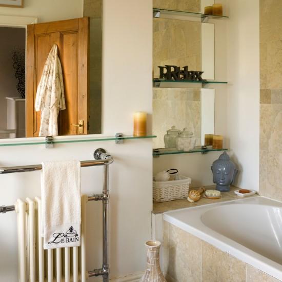 Alcove bathroom shelving bathroom storage ideas for Bathroom alcove shelves