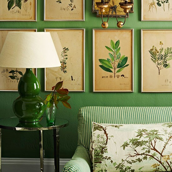 Botanical Inspired Room Schemes Design Ideas