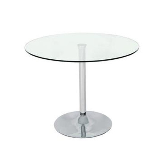 Roma glass and chrome table from very small kitchen for Very small kitchen table