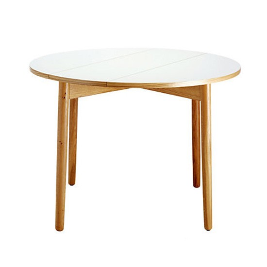 Suki white folding table from habitat small kitchen for Small round wood kitchen table