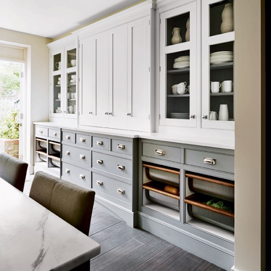 Flowing Grey Kitchen Grey Kitchens