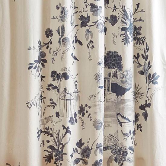 Anthropologie Kojani Sketch Shower Curtain Best Shower Curtains