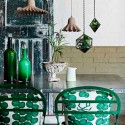 Decorate with teal and green