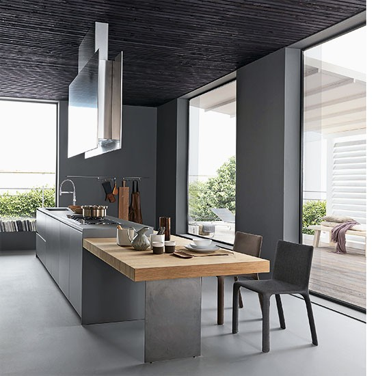 Dark and dramatic modern kitchen extensions our pick for House extension interior designs