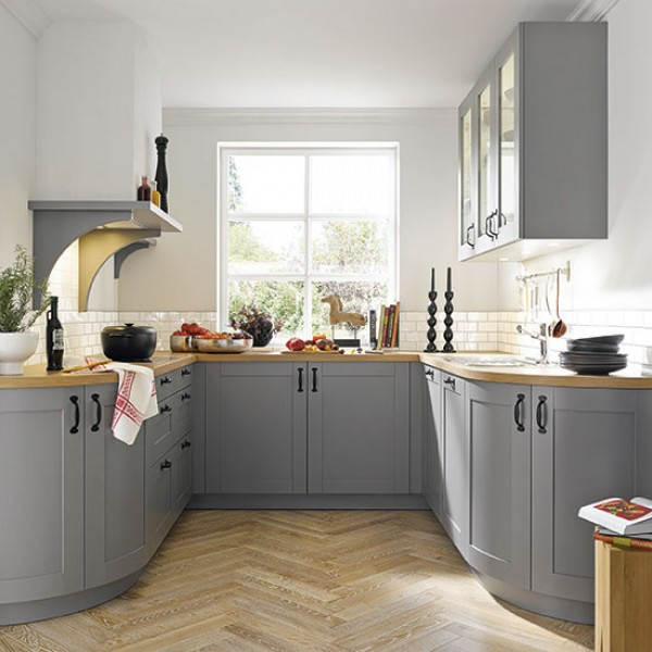 Big questions for small country kitchens for Small fitted kitchen ideas