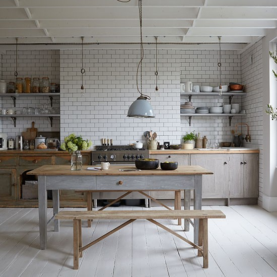 Bench seating for Galley kitchen ideas uk
