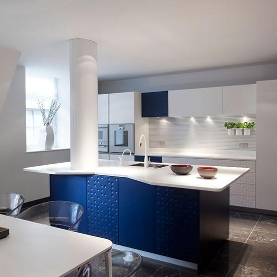 Blue Kitchen London: Colourful Kitchen Design Ideas