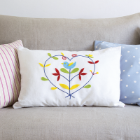 Become a crafting queen with this folk-style cushion project