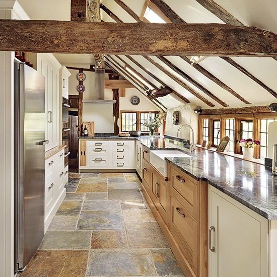 Country style flooring | Flooring | Kitchens | PHOTO GALLERY | Beautiful Kitchens | House To Home