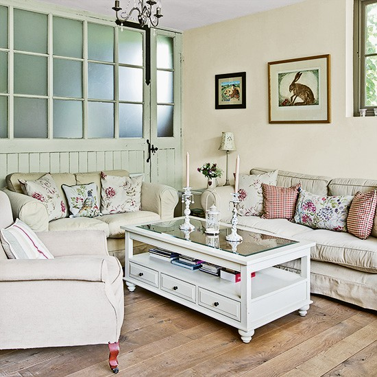 Country Living Room With Reclaimed Carriage Door