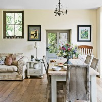 Neutral country dining room