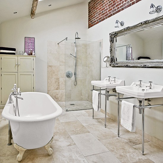 Bathroom | Country townhouse in Suffolk | House tour | PHOTO GALLERY | Country Homes & Interiors | Housetohome.co.uk