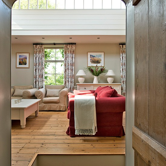 Country Living Room With Red Sofa Housetohome Co Uk