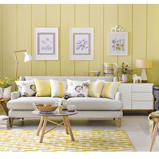 Scandi Yellow And Grey Living Room Grey And Yellow Living Room Ideas And D