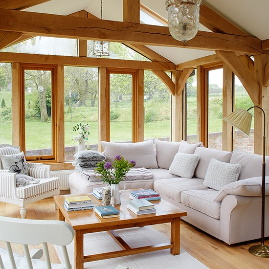 Garden room wander through this beautiful thatched for Interior country home designs