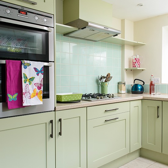 Green Kitchen Units Uk: Country Kitchen With Green Units