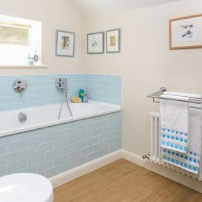 Kitchen bathroom bedroom living room and garden design for Blue vinyl flooring bathroom