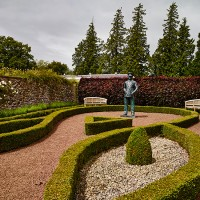 Take a tour of this traditional Scottish garden filled with sculpture