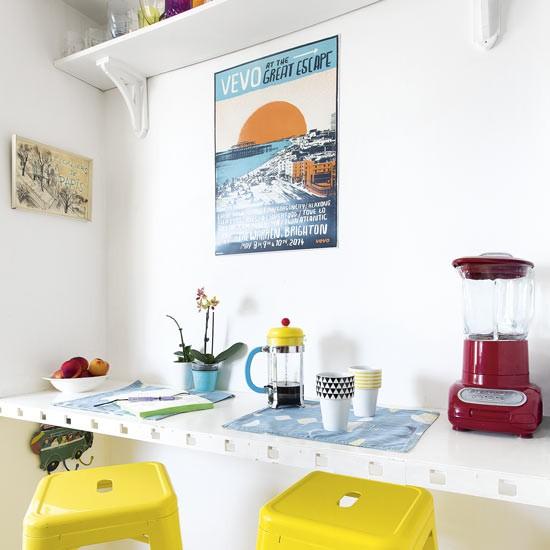 Retro Breakfast Bar With Yellow Stools Housetohome Co Uk