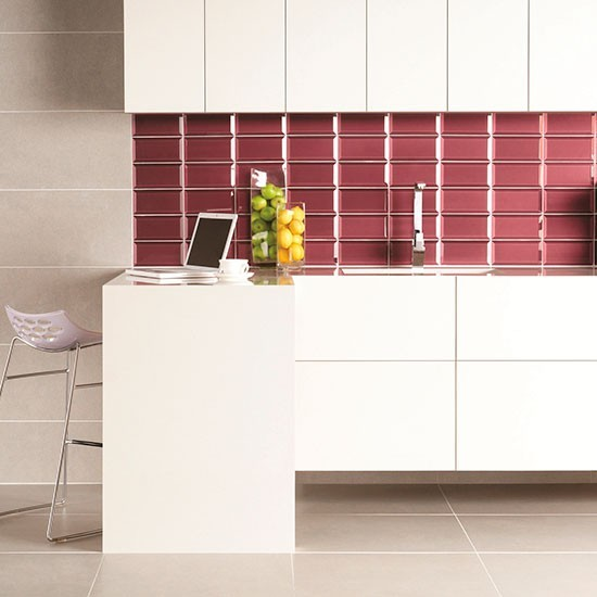 Bevel tile splashback in ulysses from original style Splashback tiles kitchen ideas