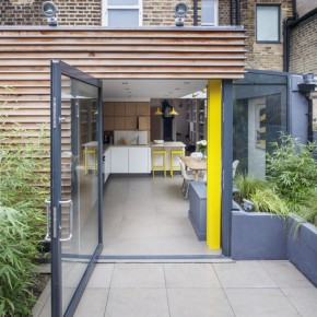 Be inspired by a 1980s yellow and black kitchen